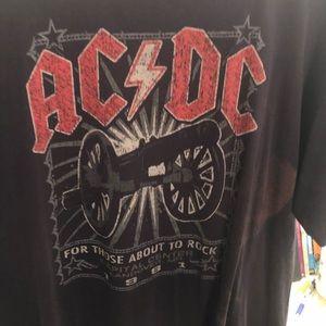 Liquid blue AC/DC vintage shirt xl